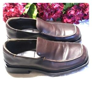 Banana Republic mens leather shoes brown size 10D